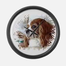 Cavalier King Charles Spaniel Large Wall Clock