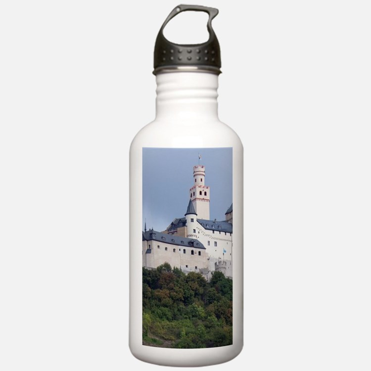 Rhine River. View betw Water Bottle