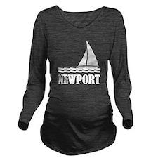 Sail Newport Long Sleeve Maternity T-Shirt