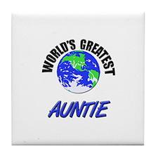 World's Greatest AUNTIE Tile Coaster