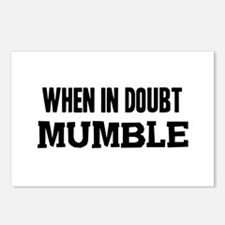 When In Doubt Mumble Postcards (Package of 8)