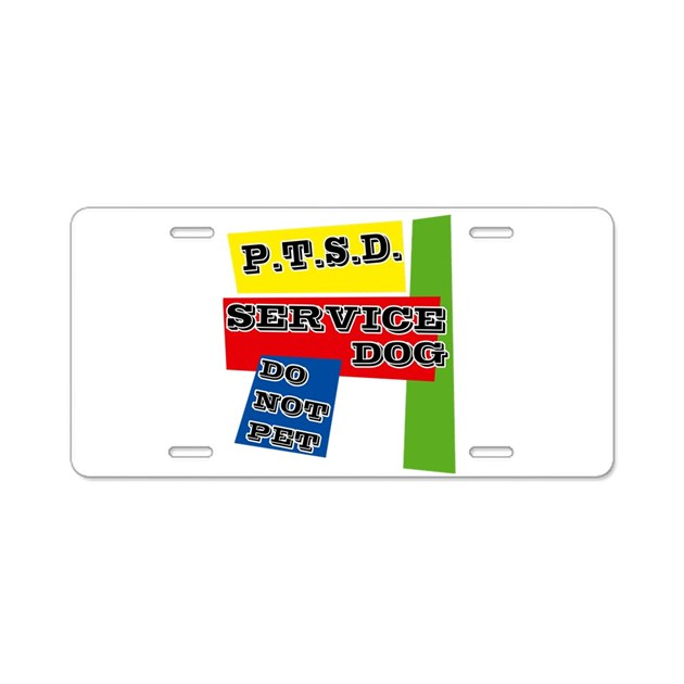 SERVICE DOG Aluminum License Plate by CANDIDOG