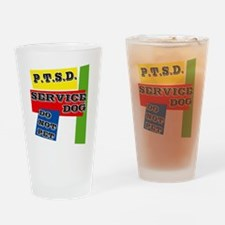 SERVICE DOG Drinking Glass