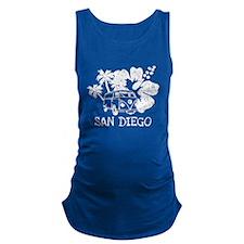 San Diego Hippie Surf Bus Maternity Tank Top