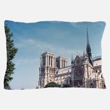 The Seine River and Notre Dame Cathedr Pillow Case