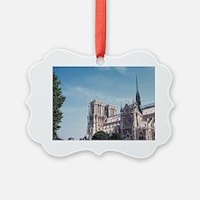 The Seine River and Notre Dame Ca Ornament