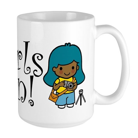 Girl Photographer Large Mug