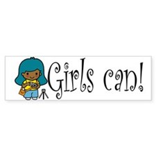 Girl Photographer Bumper Bumper Sticker