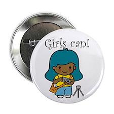 Girl Photographer Button