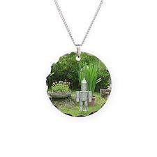 Tin Man Necklace Circle Charm