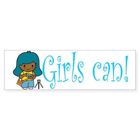 Girl Photographer Bumper Sticker