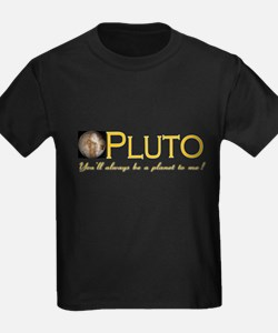 Pluto (Always a Planet) Black T-Shirt
