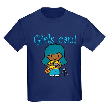 Girl Photographer Kids Dark T-Shirt