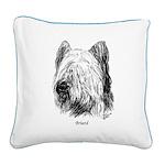 Briard Square Canvas Pillow