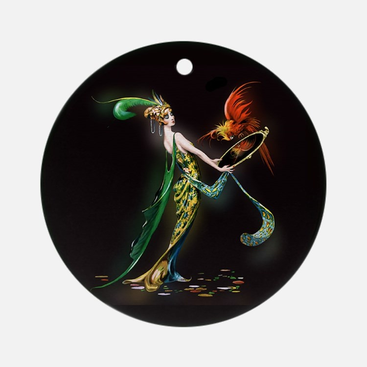 Mavis Vivadou Art Deco Cover Lady Ornament (Round)