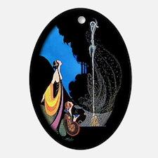 Mavis Vivadou Art Deco April Oval Ornament