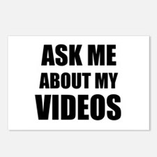 Ask me about my videos Postcards (Package of 8)