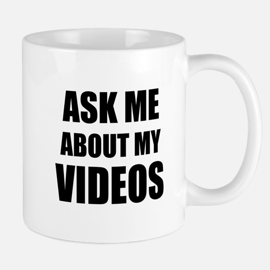 Ask me about my videos Mugs