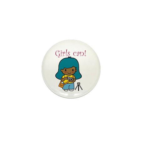 Girl Photographer Mini Button (10 pack)
