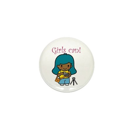 Girl Photographer Mini Button