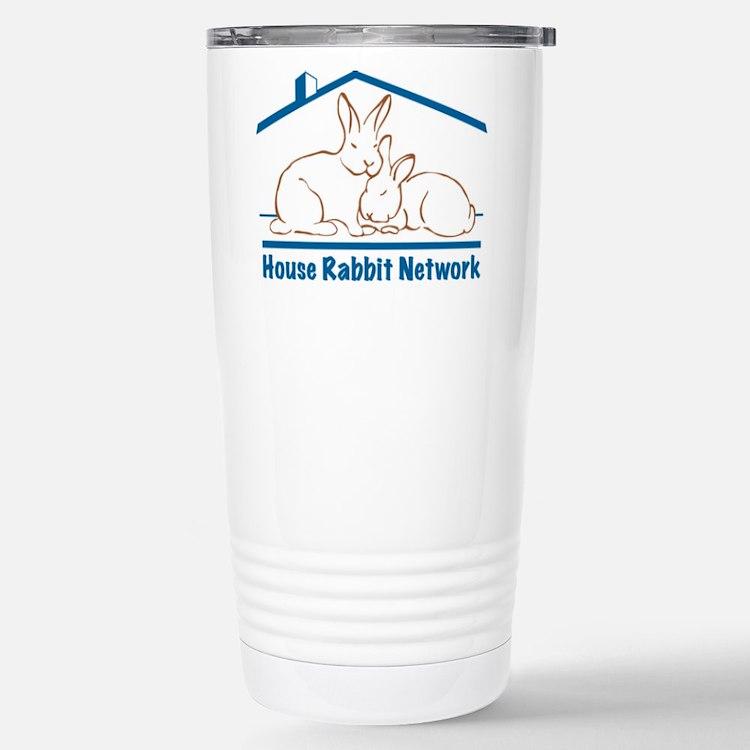 Cute House rabbit Travel Mug
