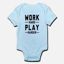 Work Hard Play Harder Body Suit