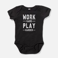 Work Hard Play Harder Baby Bodysuit