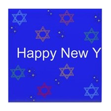 Happy New Year Tile Coaster