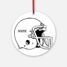 Customize a Football Helmet Ornament (Round)