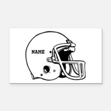 Customize a Football Helmet Rectangle Car Magnet