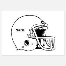 Customize a Football Helmet Invitations
