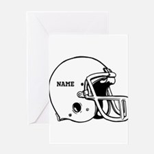 Customize a Football Helmet Greeting Cards