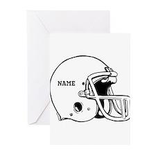 Customize a Football Helmet Greeting Cards