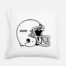 Customize a Football Helmet Square Canvas Pillow