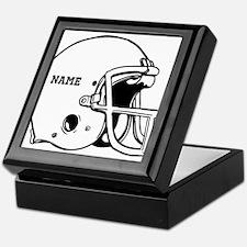 Customize a Football Helmet Keepsake Box