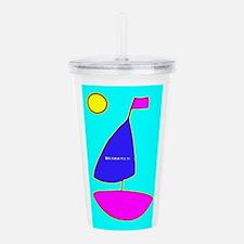 Turquoise Sailboat Acrylic Double-Wall Tumbler