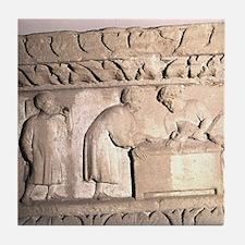 Romano-German Period. Relief showing  Tile Coaster