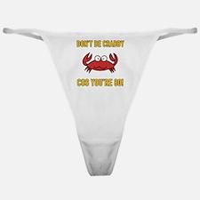 Funny 80th Birthday (Crabby) Classic Thong