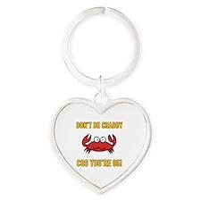 Funny 85th Birthday (Crabby) Heart Keychain