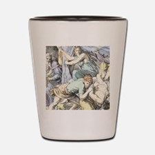Samson is captured after Delilah cuts h Shot Glass