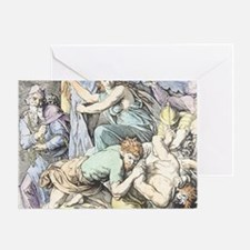 Samson is captured after Delilah cut Greeting Card