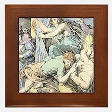 Samson is captured after Delilah cuts  Framed Tile