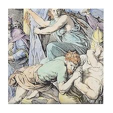 Samson is captured after Delilah cuts Tile Coaster