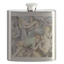 Samson is captured after Delilah cuts his ha Flask
