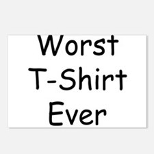 Worst T-Shirt Ever Postcards (Package of 8)
