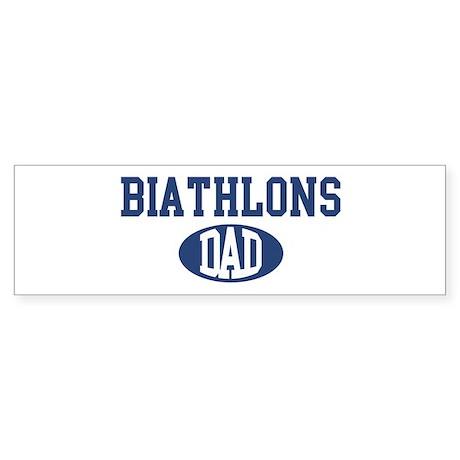 Biathlons dad Bumper Sticker