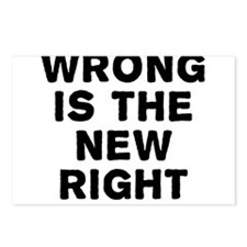 Wrong Is The New Right Postcards (Package of 8)