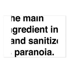 The main ingredient in hand sanitizer is paranoia