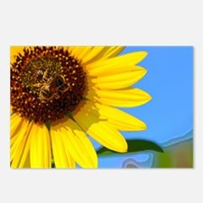 Sunflower and Honeybee Postcards (Package of 8)