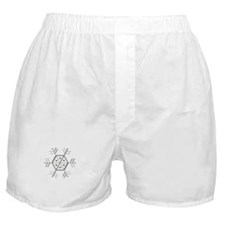 Silver and Gold Snowflake Boxer Shorts
